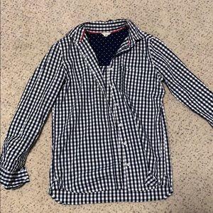 Aeropostal checkered blouse